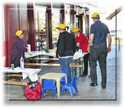Die KITA Betreuerinnen und Betreuer bereiten sich auf den Ansturm vor
