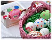 Eier in allen Farben, Ostern kann nicht mehr weit sein