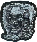 Gun, Pistole, Totenkopf, Reaper, Skullhead Biker, Aufnäher, Patch, Abzeichen