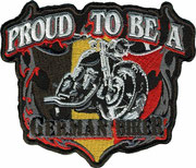 Proud to be a german Biker, Aufnäher, Patch, Abzeichen