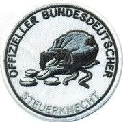Offizieller Bundesdeutscher Steuerknecht, Steuerzahler, Biker, Aufnäher, Patch, Abzeichen
