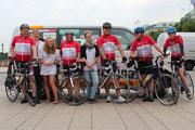 von links nach rechts: Oli, Susanne, Anni, Ole, Shari, Volker, Rainer u. Juli..