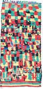 45. Berberteppich, Azilal Region, Hoher Atlas, 4. Viertel 20. Jahrhundert,  270 x 158 cm