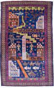8.War rug, Taymani / Westafghanistan, 145 x 89 cm