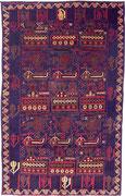3. War rug, Belutschen Afghanistan, ca. 1980/90, 143 x 90 cm