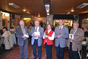 Siegerehrung Seniorenklasse 3: Franz Geppert, Leo Decker, Maria Bartels, Helmut Ostermann, Gerd Schieren