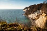 Hochuferwanderweg Rügen - Sicht auf die Kreidefelsen