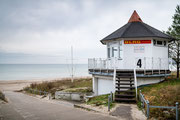 Rettungsturm der DLRG im Ostseebad Binz