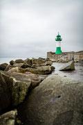 Leuchtturm im Hafen von Sassnitz