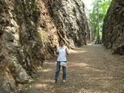 Touristen guide im Hellfire Pass