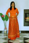 longue orange ruban