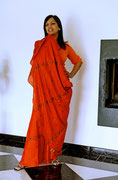 portée comme un sari