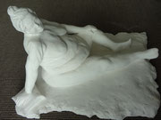 Modell, Gips 28x38 cm