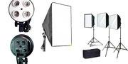Kit completo de 3 luces Continuas para Vídeo Fluorescente $ 1'300.000