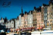 Honfleur - riflesso delle case nell'acqua del porto
