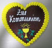 Lebkuchenherz - 21 - 22 cm - Kommunion