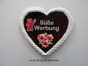Süße Werbung Lebkuchenherz 23 x 22 cm | ca. 220 Gramm