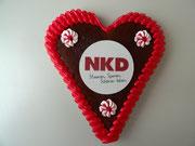 NKD Lebkuchenherz Größe 15 x 17 cm | ca. 90 Gramm