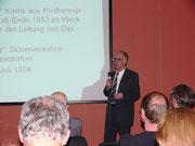 Prof. Helge Bergander nahm die Zuhörer mit auf eine Zeitreise