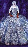 Blaue Diva   1m x 1,60m  Tempera auf Leinwand 2004