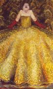 gelbe Diva1m x 1,60m  Tempera auf Leinwand 2004