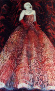 rote  Diva1m x 1,60m  Tempera auf Leinwand 2004