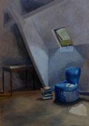 Le fauteuil de Yaya, hst 92*65 cm