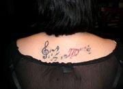Noten Sternzeichen Tattoo