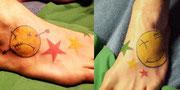 Tattoo Smily Sterne