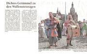 Artikel über Festumzug Wallensteintage 2010
