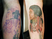 cover up Indianer