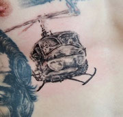 Tattoo Hubschrauber