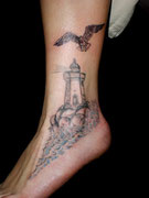 Leuchtturm Möwe Tattoo Greifswald
