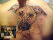 Portrait Tattoo Hund