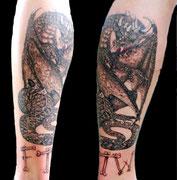 Drache Tattoo