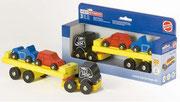 Heros Holz-Transporter mit 2 kleinen Autos, 9,99 €