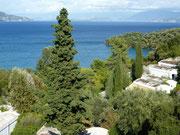 Bild: Blick vom Hotelzimmer zum Meer