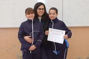 Núria Cardona i Laia Gavaldà amb Mireia Guinjoan (entrenadora)