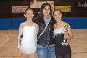 Itziar Rofes, Mireia Guinjoan (entrenadora) i Sheila Hurtado