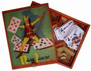 Nain jaune : Le Nain Jaune représente un jeu familial couramment pratiqué dans la seconde moitié du XXème siècle. Simple à apprendre, convivial, pouvant rassembler de nombresuses personnes, grandes et petites. Dans d'autres pays, ce jeu est reconnaissable