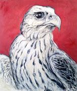Falke . 200 x 170 cm . Oil on Canvas