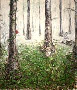 Lauter Bäume . 230 x 200 cm . Oil on Canvas