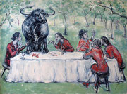 Tafelrunde . 170 x 230 cm . Oil On Canvas