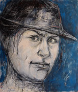 Self with Hat • 200 x 170 • oil on canvas