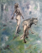The Nude Wolf . 140 x 110 cm . Oil on Canvas