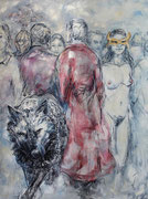 Von Menschen . 230 x 170 cm . oil on canvas