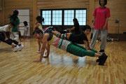 親子DANCE LESSON風景