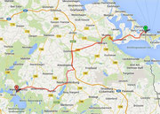 Route nach Waren (Müritz)