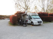 Auf dem Campingplatz Il Serchio in Lucca