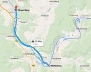 Route nach Klingenberg